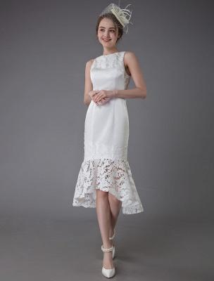 Kurzes Brautkleid Vintage Jewel Ärmelloses Etui-Brautkleid Exklusiv_5