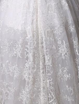 2021 Lace High-Low Brautkleid mit Llusion-Ausschnitt und Rücken exklusiv_8