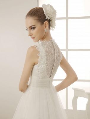Brautkleid mit Kapelle-Schleppe und V-Ausschnitt mit Perlenverzierung_6
