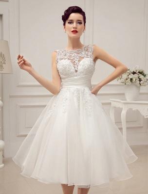 Kurze Brautkleider Vintage 1950er Brautkleid rückenfrei Spitze Perlen Plissee Pailletten Illusion Hochzeitsempfang Kleid mit exklusiven_7