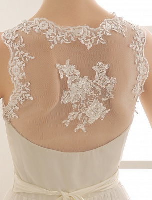 Ivory Wedding Dress Lace Sash Bow Sequins Wedding Gown Exclusive_6