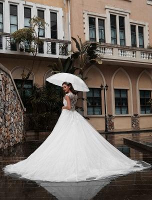 Preises Brautkleid Spitze Mieder Tüll Satin Stoff Sweep Zug Applikation Brautkleid Exklusiv Wedding_5