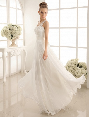 Ivory Wedding Dress Lace Sash Bow Sequins Wedding Gown Exclusive_2