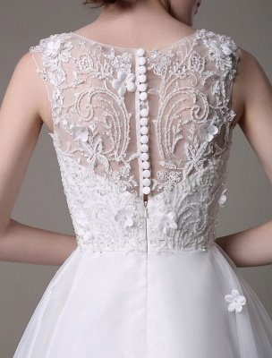 Asymmetrical Organza Wedding Dress High Low A-Line With Lace Beading Flower Exclusive_7
