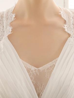 Vestido de novia con escote en pico y encaje hasta el suelo exclusivo_6