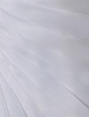 Ivory One-Shoulder Ruched Organza Mermaid Wedding Dress_8