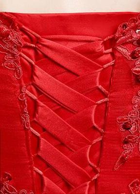 Brautkleid aus Spitze schulterfrei Elfenbein A-Linie Lace Up Half Sleeve Pailletten bodenlangen Brautkleid_9