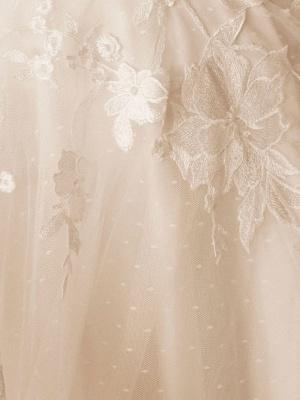 Robes De Mariée Vintage Bijou Cou Sans Manches Taille Surélevée Satin Tissu Avec Train Applique Robe De Mariée_5