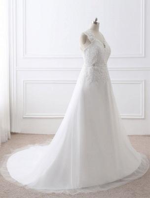 Weißes Hochzeitskleid Queen Anne Brautkleid mit Schärpe und Spitze_11