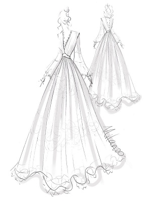 Boho Wedding Dresses 2021 A Line Deep V Neck Multilayer Lace Chiffon Beach Party Dress Bridal Gowns_7