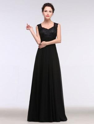 Black Evening Dress Lace Sweatheart Maxi Party Dress A Line Sleeveless Floor Length Mother'S Dress_3