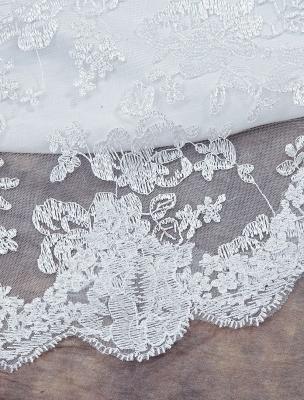 Weißes Brautkleid Queen Anne Mermaid Backless Lace Brautkleid_7