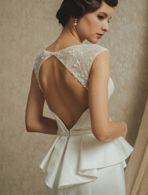 Lace Wedding Gown With Mermaid Sweep ( Veil & Accessories Are Excluded )_10