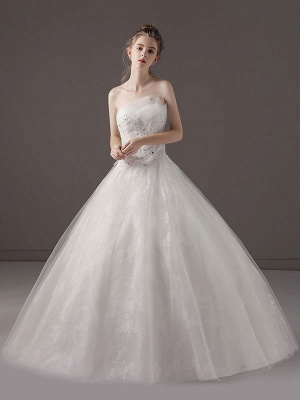 Princess-Ball-Gown-Wedding-Dresses-Strapless-Lace-Applique-Beaded-Ivory-Maxi-Bridal-Dress_3