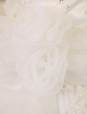 Elfenbeinfarbenes Duchesse-Linienkleid mit Juwelen-Ausschnitt und Pailletten Kapelle-Schleppe-Brautkleid exklusiv für die Braut_9