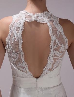 Weißes Etuikleid mit Strass-Knielangem Spitzen-Hochzeitsempfang mit V-Ausschnitt Exklusiv_11