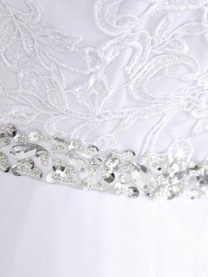 Brautkleider 2021 A Line Perlen Jewel Neck Ärmellos Bodenlangen Tüll Traditionelles Brautkleid Mit Schleppe_6