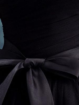 Robes de mariée gothiques Tulle princesse silhouette manches courtes taille naturelle robe de mariée plissée au sol_4