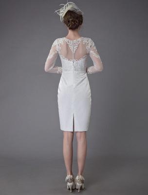 Vintage Brautkleider Jewel Langarm Etui Kurzes Brautkleid Exklusiv_7