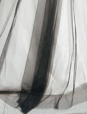 Schwarzes Festzug Partykleid Frauen Trägerlose Tüll Luxus Prinzessin Kleider_9