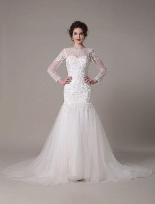 Pailletten-Hochzeit-Kleid-Abnehmbar-Ausschnitt-Spitze-Applikation-Meerjungfrau-Gericht-Zug-Brautkleid-Exklusiv_2