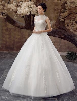 Wedding-Dresses-Ball-Gown-Bridal-Dress-Lace-Applique-Open-Back-High-Collar-Sequins-Rhinestones-Floor-Length-Bridal-Dress_3