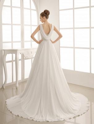Exklusives Brautkleid mit Umlegekragen und plissiertem Satin_4