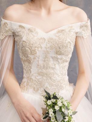 Brautkleider-Tüll-Off-The-Shoulder-Kurzarm-Spitze-Applikation-Prinzessin-Brautkleid_7