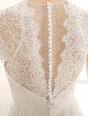 Vestido de novia con escote en pico y encaje hasta el suelo exclusivo_7