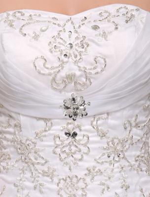 Ballkleid Brautkleid Sweatheart trägerlos bestickt Perlen Pailletten Brautkleid Kapelle Zug Brautkleid_8