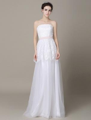 Elfenbein-Hochzeit-Kleid-Trägerlos-Rückenlos-Schärpe-Tüll-Brautkleid-ExklusivEx_1