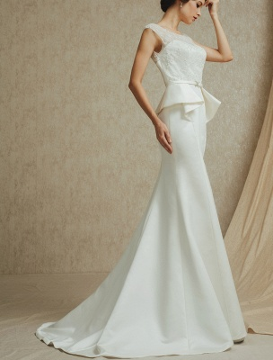 Lace Wedding Gown With Mermaid Sweep ( Veil & Accessories Are Excluded )_4