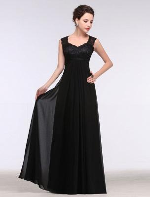Black Evening Dress Lace Sweatheart Maxi Party Dress A Line Sleeveless Floor Length Mother'S Dress_4