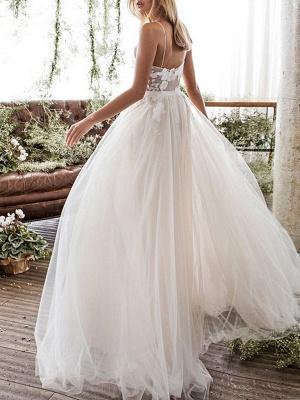 Wedding Dress Jewel Neck A Line Sleeveless Flowers Floorlength Backless Bridal Gowns_2