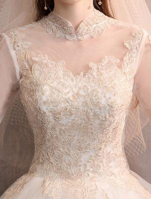 Tulle-Wedding-Dresses-Princess-Bridal-Gown-Illusion-Collar-Half-Sleeve-Floor-Length-Bridal-Dress_8
