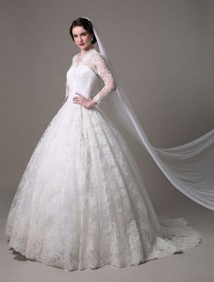 Kate Middleton Royal Wedding Dress Vintage Lace mit V-Ausschnitt und langen Ärmeln Exklusiv_2
