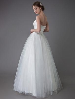 Tulle Wedding Dress Ivory Strapless Sleeveless Princess Dress Ball Gown Floor Length Bridal Dress Exclusive_8