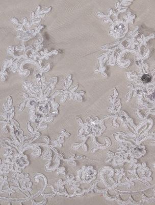 Brautkleider V-Ausschnitt Spitze Applique Brautkleid Pailletten Perlen Illusion Lange Kathedrale Zug Brautkleid_9