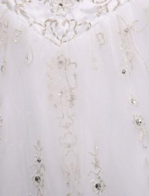 Ballkleid Brautkleid Sweatheart trägerlos bestickt Perlen Pailletten Brautkleid Kapelle Zug Brautkleid_9