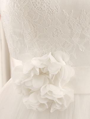 Bateau Neck Wedding Dress With Chapel Train_6