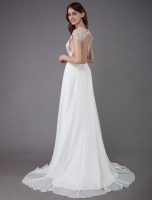 Strand-Hochzeitskleider-Spitze-Satin-A-Linie-Elfenbein-Luxus-Rücken-Kreuz-High-Split-Sommer-Brautkleider-Mit-Zug_7