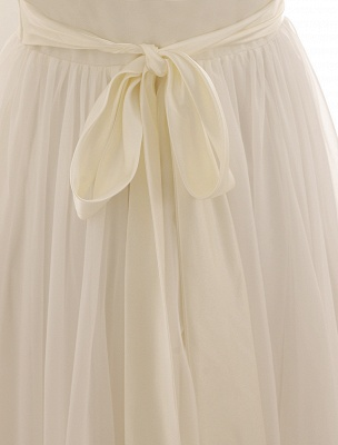 Ivory Wedding Dress Lace Sash Bow Sequins Wedding Gown Exclusive_8