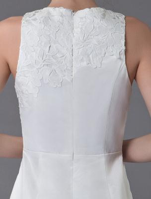 Kurzes Brautkleid Vintage Jewel Ärmelloses Etui-Brautkleid Exklusiv_11