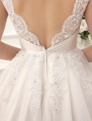 Kurze Brautkleider Vintage 1950er Brautkleid rückenfrei Spitze Perlen Plissee Pailletten Illusion Hochzeitsempfang Kleid mit exklusiven_9
