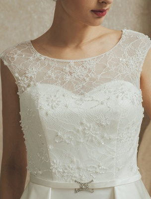 Lace Wedding Gown With Mermaid Sweep ( Veil & Accessories Are Excluded )_8