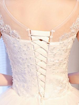 Princess Wedding Dresses Lace Beaded Ball Gowns Sleeveless Floor Length Bridal Dress_8