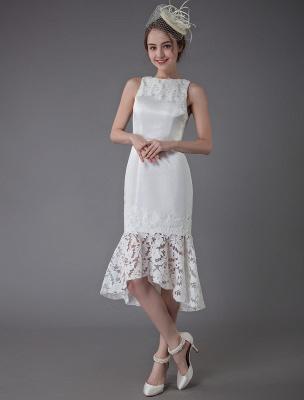 Kurzes Brautkleid Vintage Jewel Ärmelloses Etui-Brautkleid Exklusiv_3