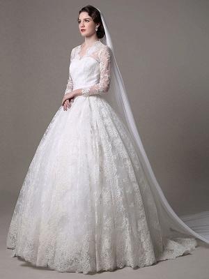 Kate Middleton Royal Wedding Dress Vintage Lace mit V-Ausschnitt und langen Ärmeln Exklusiv_1