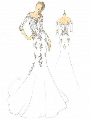 2021 Vintage inspiré de l'épaule robe de mariée en dentelle sirène exclusive_2