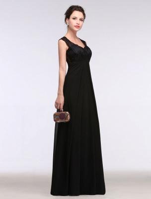 Black Evening Dress Lace Sweatheart Maxi Party Dress A Line Sleeveless Floor Length Mother'S Dress_6